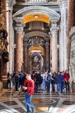 Εσωτερικό της βασιλικής Αγίου Peter, Βατικανό Στοκ εικόνα με δικαίωμα ελεύθερης χρήσης