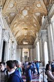 Εσωτερικό της βασιλικής Αγίου Peter, Βατικανό Στοκ Εικόνες