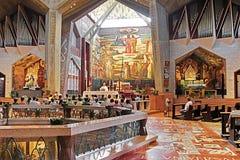 Εσωτερικό της βασιλικής Annunciation ή της εκκλησίας Annunciation στη Ναζαρέτ, Ισραήλ Στοκ Εικόνες