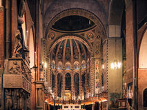 Εσωτερικό της βασιλικής Αγίου Anthony της Πάδοβας Στοκ Εικόνες