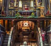 Εσωτερικό της βασιλικής του ταγματάρχη του ST Mary στη Ρώμη Στοκ Φωτογραφία