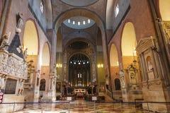 Εσωτερικό της βασιλικής του ST Anthony στην Πάδοβα Στοκ Εικόνα