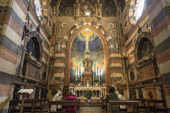 Εσωτερικό της βασιλικής του ST Anthony στην Πάδοβα Στοκ Εικόνες