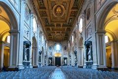 Εσωτερικό της βασιλικής Di SAN Giovanni σε Laterano, Ρώμη Στοκ Εικόνα