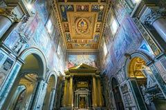 Εσωτερικό της βασιλικής Di SAN Giovanni σε Laterano, Ρώμη Στοκ εικόνα με δικαίωμα ελεύθερης χρήσης