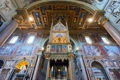 Εσωτερικό της βασιλικής Di SAN Giovanni σε Laterano στη Ρώμη Στοκ Φωτογραφία
