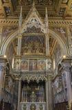 Εσωτερικό της βασιλικής Di SAN Giovanni σε Laterano & x28 Παπική αψίδα Στοκ Εικόνες