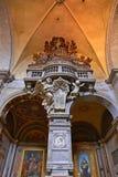 Εσωτερικό της βασιλικής Parrocchiale Σάντα Μαρία del Popolo Στοκ εικόνες με δικαίωμα ελεύθερης χρήσης