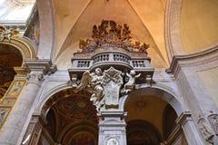Εσωτερικό της βασιλικής Parrocchiale Σάντα Μαρία del Popolo Στοκ Φωτογραφία