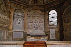 Εσωτερικό της βασιλικής Parrocchiale Σάντα Μαρία del Popolo Στοκ φωτογραφία με δικαίωμα ελεύθερης χρήσης