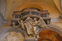 Εσωτερικό της βασιλικής Parrocchiale Σάντα Μαρία del Popolo Στοκ Φωτογραφίες