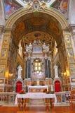 Εσωτερικό της βασιλικής Parrocchiale Σάντα Μαρία del Popolo Στοκ Εικόνες