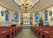 Εσωτερικό της γερμανικής εκκλησίας Christinae στο Γκέτεμπουργκ, Σουηδία Στοκ εικόνες με δικαίωμα ελεύθερης χρήσης