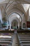 Εσωτερικό της γοτθικής εκκλησίας σε Harman Τρανσυλβανία στοκ εικόνες με δικαίωμα ελεύθερης χρήσης