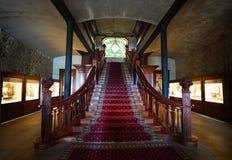 Εσωτερικό της γωνίας του τζακιού, ιστορικό κτήμα κρασιού κοιλάδων Napa στην κοιλάδα Napa Στοκ Εικόνες