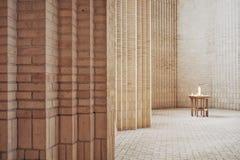 Εσωτερικό της εκκλησίας Grundtvig's Στοκ φωτογραφία με δικαίωμα ελεύθερης χρήσης