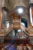 Εσωτερικό της εκκλησίας Άγιος-Sulpice Γαλλία Παρίσι Στοκ εικόνα με δικαίωμα ελεύθερης χρήσης