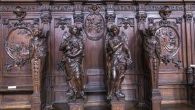 Εσωτερικό της εκκλησίας Αγίου Charles Borromee, Anvers, Βέλγιο Στοκ Εικόνα