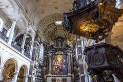 Εσωτερικό της εκκλησίας Αγίου Charles Borromee, Anvers, Βέλγιο Στοκ Φωτογραφία