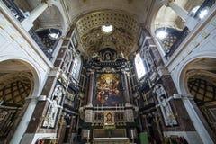 Εσωτερικό της εκκλησίας Αγίου Charles Borromee, Anvers, Βέλγιο Στοκ εικόνες με δικαίωμα ελεύθερης χρήσης