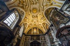 Εσωτερικό της εκκλησίας Αγίου Charles Borromee, Anvers, Βέλγιο Στοκ Εικόνες