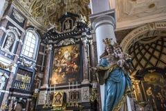 Εσωτερικό της εκκλησίας Αγίου Charles Borromee, Anvers, Βέλγιο Στοκ εικόνα με δικαίωμα ελεύθερης χρήσης
