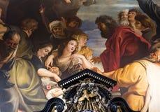 Εσωτερικό της εκκλησίας Αγίου Charles Borromee, Anvers, Βέλγιο Στοκ Φωτογραφίες