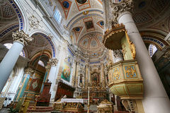 Εσωτερικό της εκκλησίας Αγίου Petrus σε Modica Σικελία Στοκ Φωτογραφίες