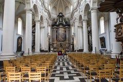 Εσωτερικό της εκκλησίας Αγίου Walburga, Μπρυζ, Belgique, Στοκ Εικόνες