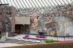 Εσωτερικό της εκκλησίας βράχου temppeliaukio στο Ελσίνκι, Φινλανδία Στοκ φωτογραφίες με δικαίωμα ελεύθερης χρήσης