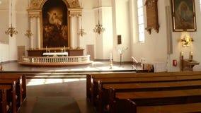 Εσωτερικό της εκκλησίας Στοκχόλμη Σουηδία φιλμ μικρού μήκους