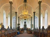 Εσωτερικό της εκκλησίας της ιερής τριάδας σε Kristianstad, Σουηδία Στοκ Εικόνες