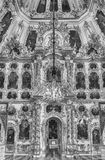 Εσωτερικό της εκκλησίας του μεγάλου παλατιού σε Peterhof, Ρωσία Στοκ Φωτογραφίες