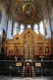Εσωτερικό της εκκλησίας του Savior στο αίμα, Αγία Πετρούπολη στοκ φωτογραφίες με δικαίωμα ελεύθερης χρήσης