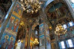Εσωτερικό της εκκλησίας του Savior στο αίμα, Αγία Πετρούπολη Στοκ φωτογραφία με δικαίωμα ελεύθερης χρήσης