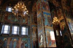 Εσωτερικό της εκκλησίας του Savior στο αίμα, Αγία Πετρούπολη Στοκ Εικόνα