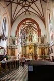 Εσωτερικό της εκκλησίας του ST Anne σε Vilnius Στοκ Φωτογραφία