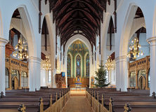 Εσωτερικό της εκκλησίας Haga (Hagakyrkan) στο Γκέτεμπουργκ, Σουηδία Στοκ Εικόνες