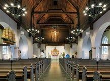 Εσωτερικό της εκκλησίας Masthugg (Masthuggskyrkan) στο Γκέτεμπουργκ, Σουηδία Στοκ Φωτογραφία