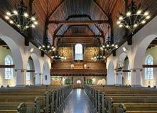 Εσωτερικό της εκκλησίας Masthugg (Masthuggskyrkan) στο Γκέτεμπουργκ, Σουηδία Στοκ Εικόνες