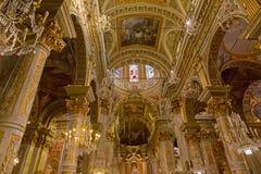Εσωτερικό της εκκλησίας Santa Margherita (βασιλική Santa Margherit Στοκ φωτογραφίες με δικαίωμα ελεύθερης χρήσης