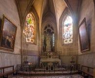 Εσωτερικό της εκκλησίας StTrophime, Arles, Γαλλία Στοκ Εικόνες