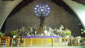 Εσωτερικό της καθολικής εκκλησίας, Sagada, Φιλιππίνες στοκ εικόνες με δικαίωμα ελεύθερης χρήσης