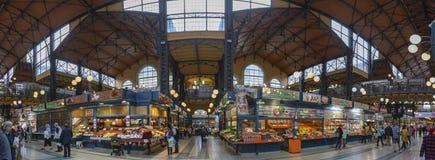 Εσωτερικό της κεντρικής αίθουσας Βουδαπέστη Ουγγαρία αγοράς στοκ φωτογραφία με δικαίωμα ελεύθερης χρήσης