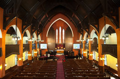 Εσωτερικό της κοινοτικής εκκλησίας Hengshan, Σαγκάη στοκ εικόνα με δικαίωμα ελεύθερης χρήσης