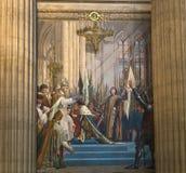 Εσωτερικό της νεκρόπολη Pantheon, Παρίσι, Γαλλία Στοκ Εικόνα