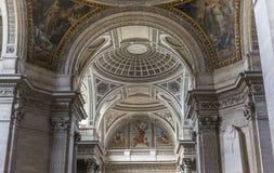 Εσωτερικό της νεκρόπολη Pantheon, Παρίσι, Γαλλία Στοκ φωτογραφίες με δικαίωμα ελεύθερης χρήσης