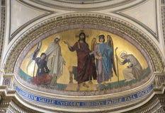 Εσωτερικό της νεκρόπολη Pantheon, Παρίσι, Γαλλία Στοκ Εικόνες