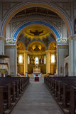 Εσωτερικό της Ρωμαιοκαθολικής εκκλησίας του ST Peter και Σεντ Πολ. Στοκ φωτογραφία με δικαίωμα ελεύθερης χρήσης