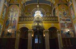 Εσωτερικό της σερβικής Ορθόδοξης Εκκλησίας στο Ζάγκρεμπ, Κροατία Στοκ εικόνα με δικαίωμα ελεύθερης χρήσης